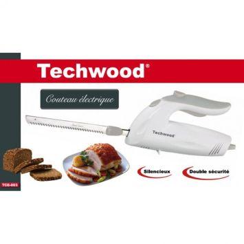 Couteau électrique blanc Techwood