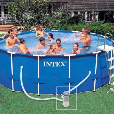 Piscine tubulaire intex ronde 4 57 x 1 22 m ref 28236 for Piscine tubulaire en solde