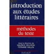 introduction aux etudes litteraires methodes du texte