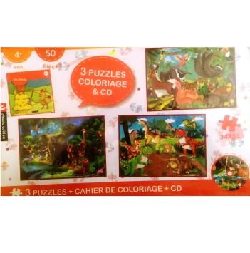Cahier de coloriage 3 puzzle