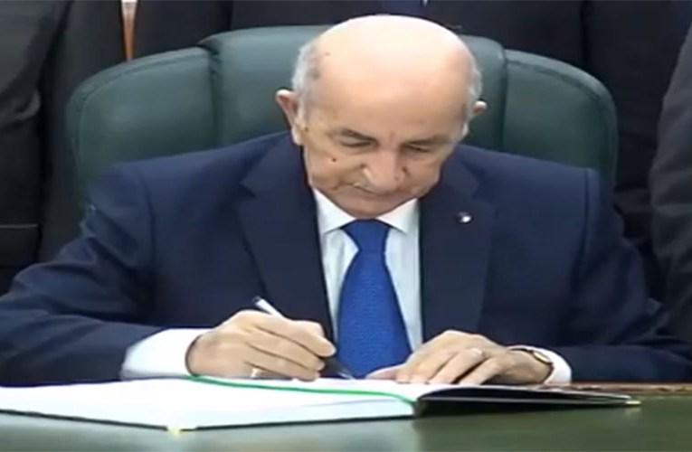 الجزائر-الرئيس تبون يوقع على قانون  المالية 2021