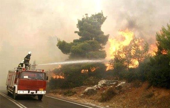 البليدة : ثلاثة جرحى أثناء عملية إخماد الحرائق بغابة الشريعة