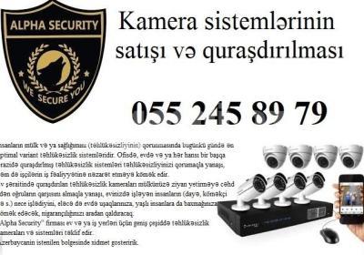 kamera qurasdirilmasi 055 245 89 79 Alpha