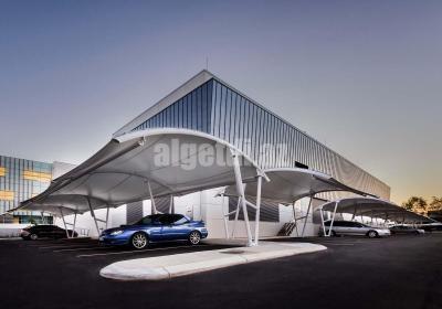 PTFE ETFE Membrane Car Parking Sheds 1