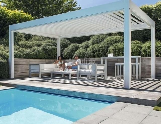 Waterproof-Aluminum-Tilting-Pergola-Systems-for-Swimming-Pool
