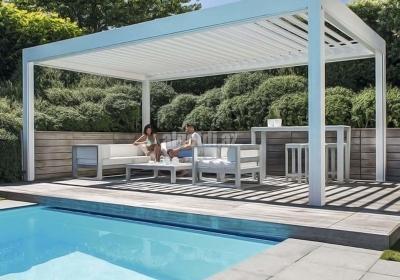 Waterproof Aluminum Tilting Pergola Systems for Swimming Pool