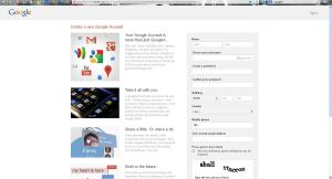 Google+ Sign-Up page