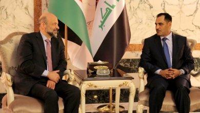 جانب من مراسم استقبال رئيس الوزراء الدكتور عمر الرزاز والوفد الأردني في العراق