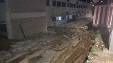عجلون: انهيار جدار مدرسة عنجرة الأساسية للبنات
