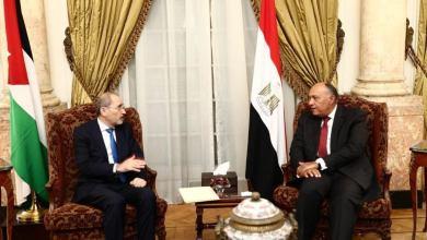 وزير الخارجية المصري سامح شكري يستقبل وزير الخارجية وشؤون المغتربين أيمن الصفدي