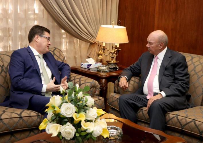 رئيس مجلس الأعيان يستقبل سفير جمهورية هنجاريا لدى المملكة تشابا تسيبيره - من المصدر