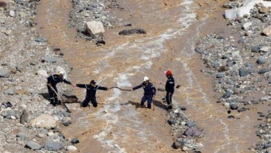 Photo of إنقاذ 3 سياح ألمان حوصروا في وادي زرقاء ماعين (فيديو)