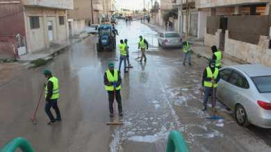 Photo of حملة تعقيم وتطهير مستمرة في شوارع وأحياء مدينة المفرق (صور)