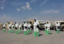 طواقم من سلاح الهندسة تقوم بتعقيم مراكز الحجر الصحي في البحر الميت