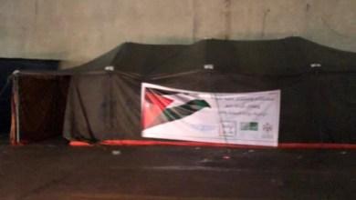Photo of خيمة لتوصيل احتياجات المحجور عليهم من ذويهم