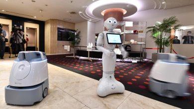 الروبوت بيبير وربوتات التنظيف في الفندق- ا ف ب