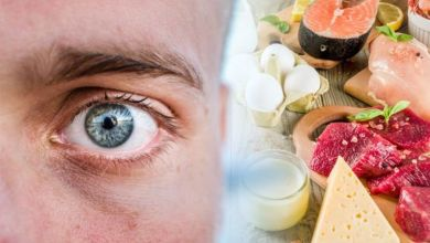 أحد اعراض نقص فيتامين B12 هو عدم وضوح الرؤية او اضطرابها.