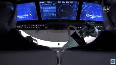 رواد مركبة دراغون سبيس اكس في الفضاء- ا ف ب
