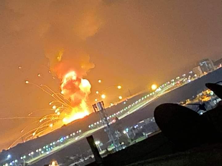 انفجارات المستودعات في الزرقاء كما ظهرت من مسافة بعيدة - الغد