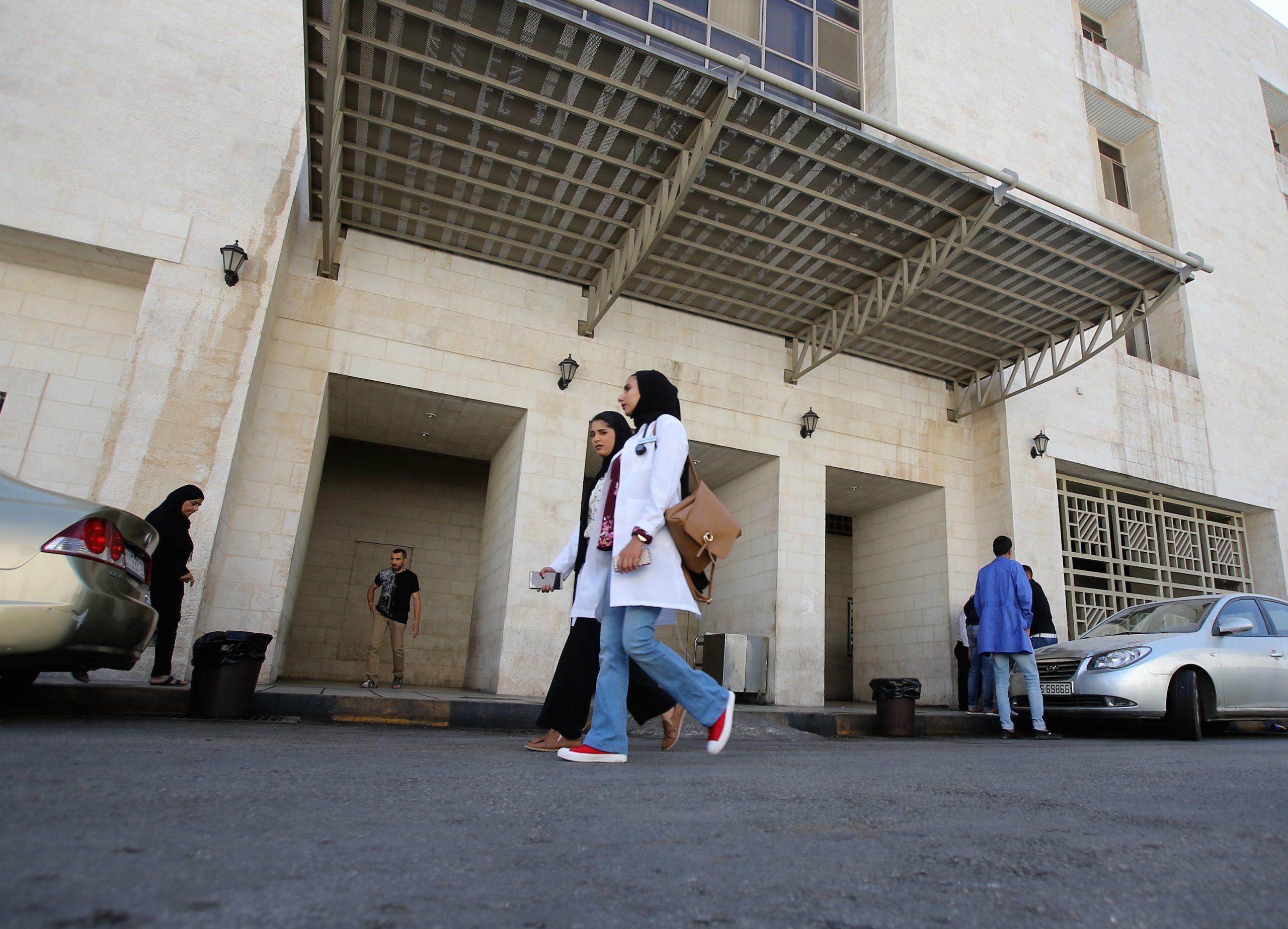 مشهد من مستشفى البشير الحكومي في عمان- (أرشيفية)