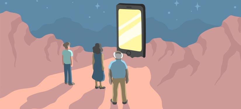 الهاتف الذكي يسرق اعمارنا