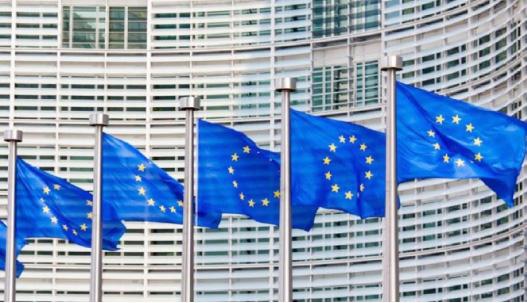 أعلام الاتحاد الأوروبي ترفرف في بروكسل - (ا ف ب)