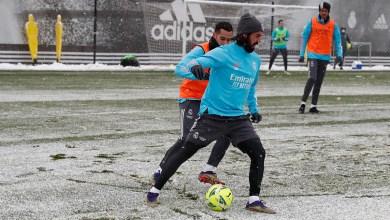 """Photo of بعثة ريال مدريد تصل """"بامبلونا"""" بعد احتجازها لساعات بسبب الثلوج"""