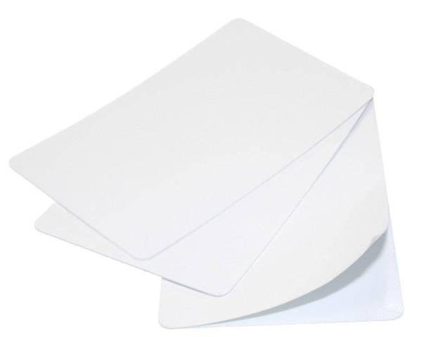 Blank White Self-Adhesive 480-Micron Plastic Cards (Pack of 100)