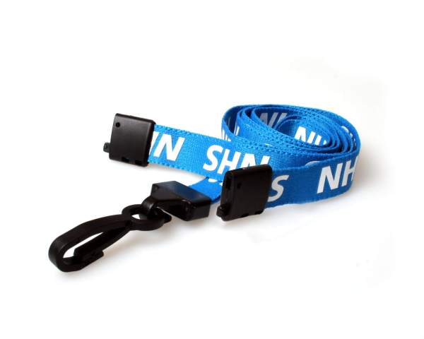 NHS Lanyards with Breakaway and Plastic J Clip - Pack of 100