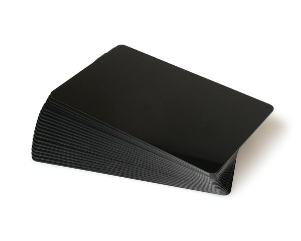 Black Coloured Plastic Cards - 760 Micron (Pack of 100)