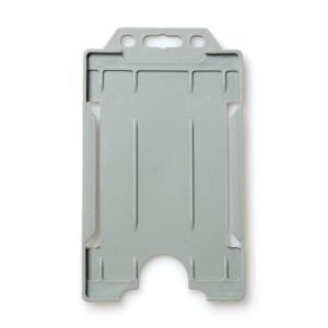 Single-Sided Open Faced ID Card Holder - Portrait (Grey)