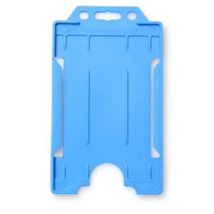 Single-Sided Open Faced ID Card Holder - Portrait (Light Blue)