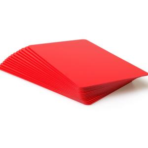 Red Coloured Plastic Cards - 760 Micron (Pack of 100)