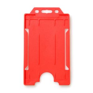 Single-Sided Open Faced ID Card Holder - Portrait (Red)