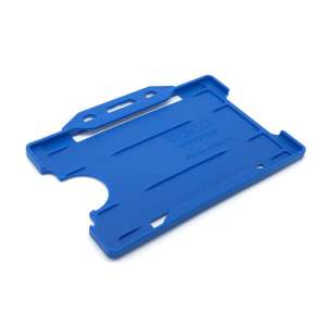 Antimicrobial Single Sided Badge Holder - NHS Blue