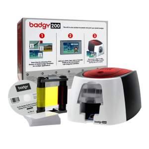 Evolis Badgy 200 ID Card Printer Bundle (Single-Sided)