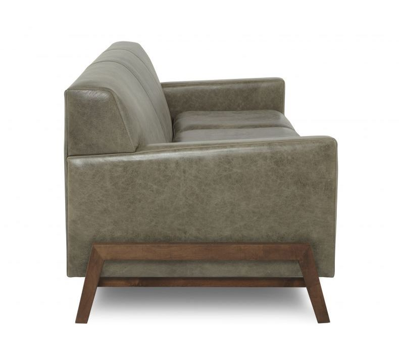 HUDSON CUSTOM LEATHER SOFA 80 Algin Retro