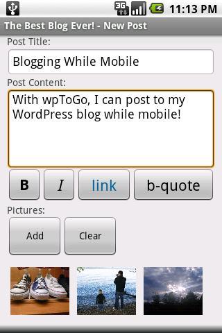 WordPress y Blogger: Como publicar desde tu movil Android