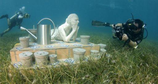 Esculturas bajo el agua en Mexico 2