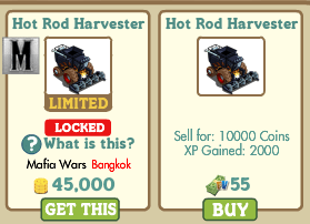 Farmville Hot Rod Harvester