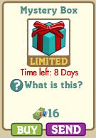 Mystery Box Farmville: Verde azulada con lazo rojo