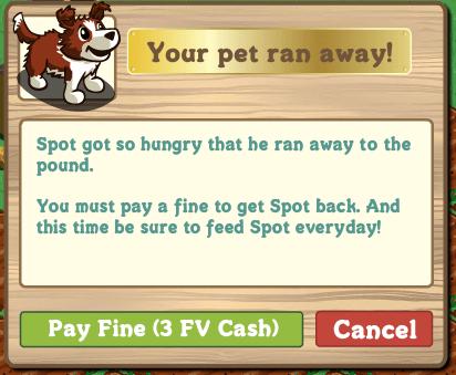 Farmville: Tu perro se escapa