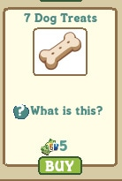 Dogs treats Farmville 2