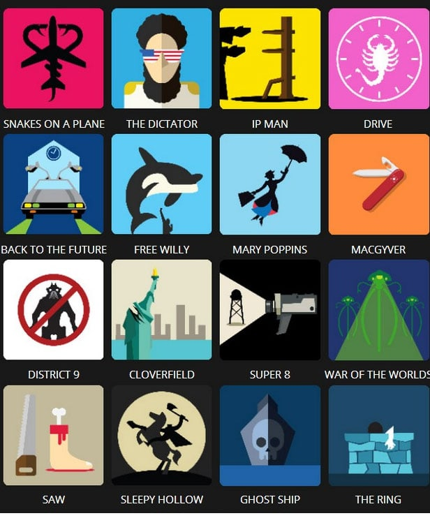 Icon Pop Quiz Answers Tv&Film Level 3