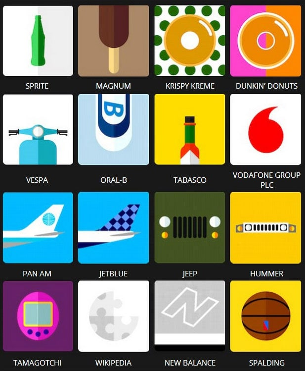 Icon Pop Quiz Brands Answers Level 4