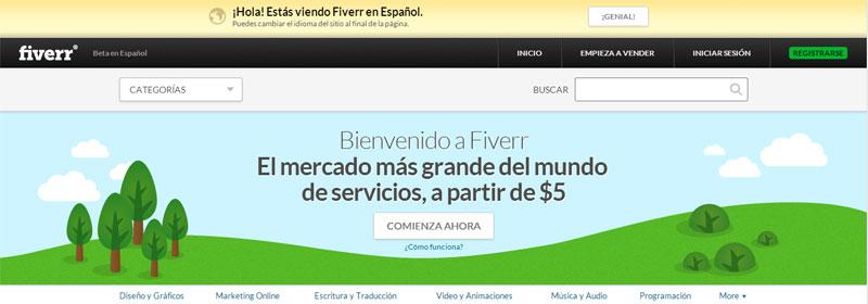 Cómo ganar dinero en Fiverr… en Español