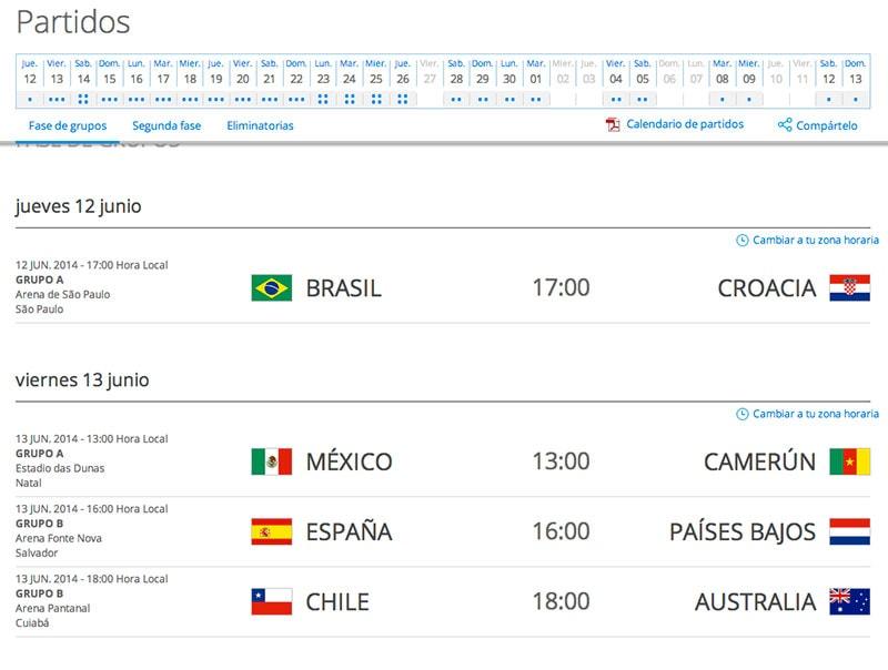 ¿Dónde se podrá ver online el mundial de fútbol de Brasil 2014? ¿Calendario de partidos?
