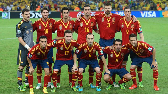 Calendario de los partidos de la selección Española de fútbol en el mundial de Brasil 2014