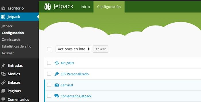 jetpack configuracion