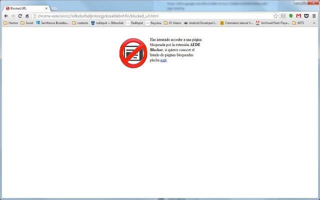 Bloquear contenido de AEDE en Google Chrome